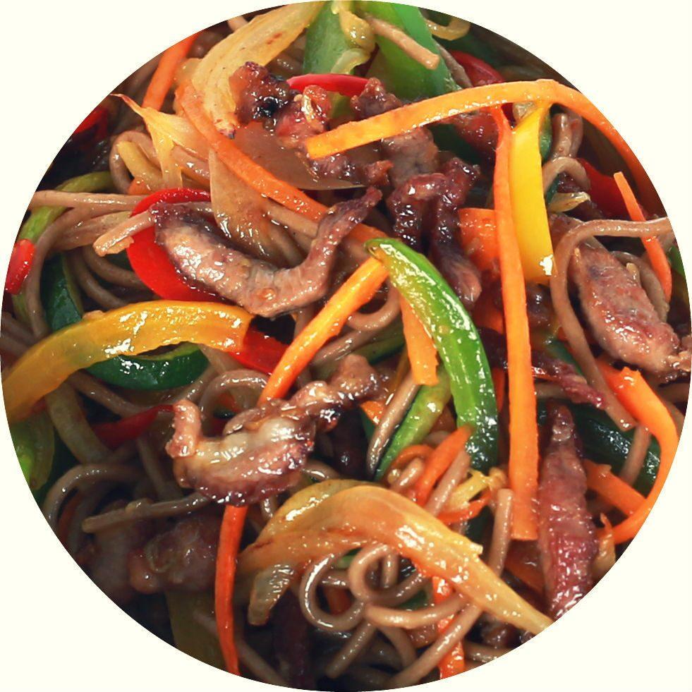Китайская лапша с говядиной рецепт пошагово