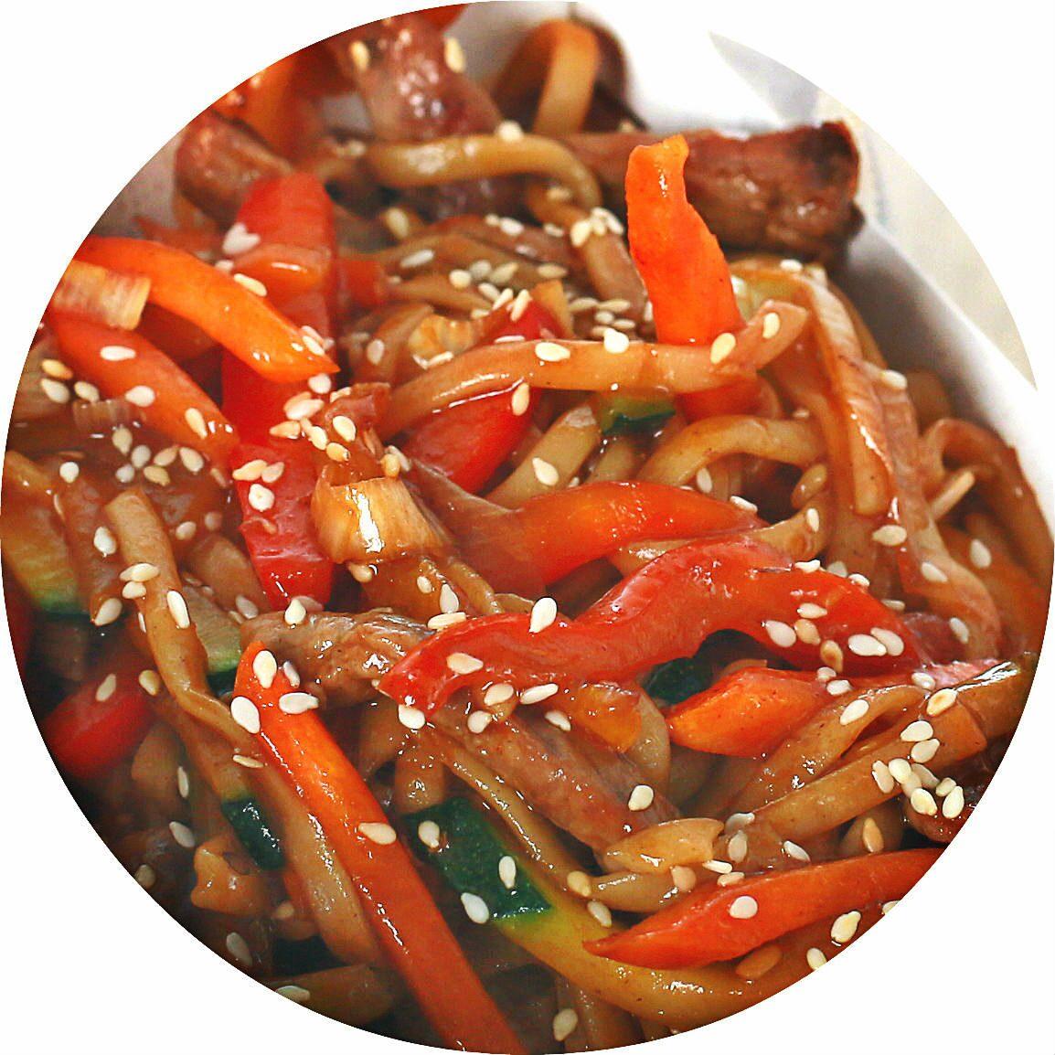 Вок с мясом и овощами рецепт